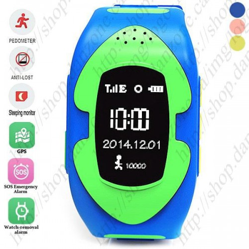 GW011 Kids GPS Positioning MTK6261 Smart Watch Anti-lost Kid watch SOS Alarm for Android / iOS