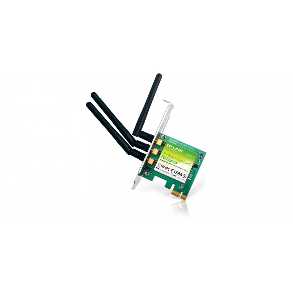 Tp Link Tl Wdn4800 450mbps Dual Band Wireless N Pci E Adapter Express Lan Card Tg 3468 1000mbps Gigabit Loading Zoom